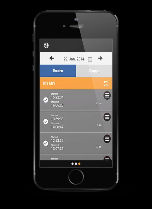elektronisches Fahrtenbuch App
